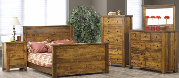 Vokes Rough Sawn 3 Pc. Queen Bed w/Low profile Footboard