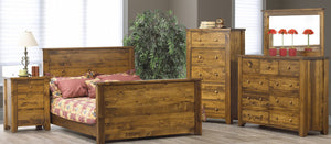 Vokes Rough Sawn 3 Drawer Night Stand