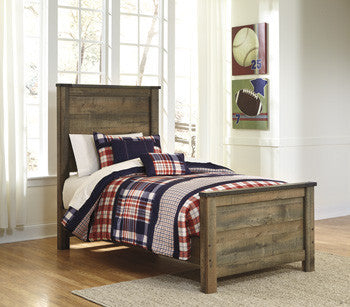 Youth Vintage-Look 3 Pc. Twin Panel Bed