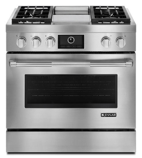 Jenn-Air Pro-Style Dual-Fuel Range with Griddle and MultiMode Convection, - Call for Pricing