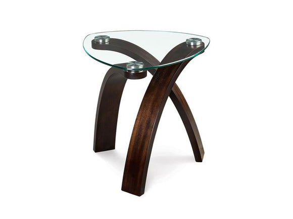 Curve Oval End Table