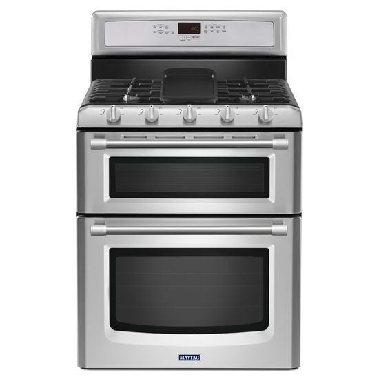 Maytag Gemini Double Oven Gas Double Oven with EvenAir™ True Convection - 6.0 total cu. ft.