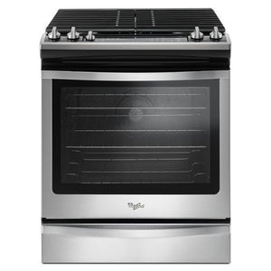 Whirlpool 5.8 Cu. Ft. Front Control Gas Range with EZ-2-Lift™ hinged grates