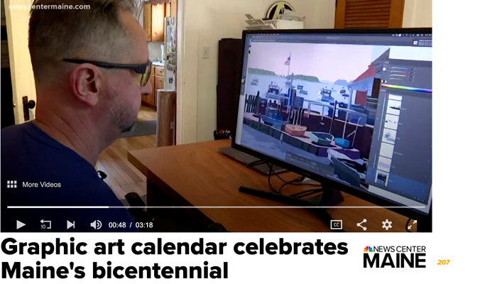 Graphic Art Calendar Celebrates Maine's Bicentennial 2020