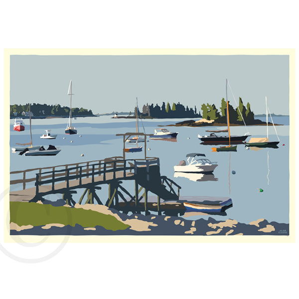 Sailboats in Boothbay Harbor