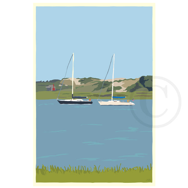 NEW! Sailboats at Sandy Neck