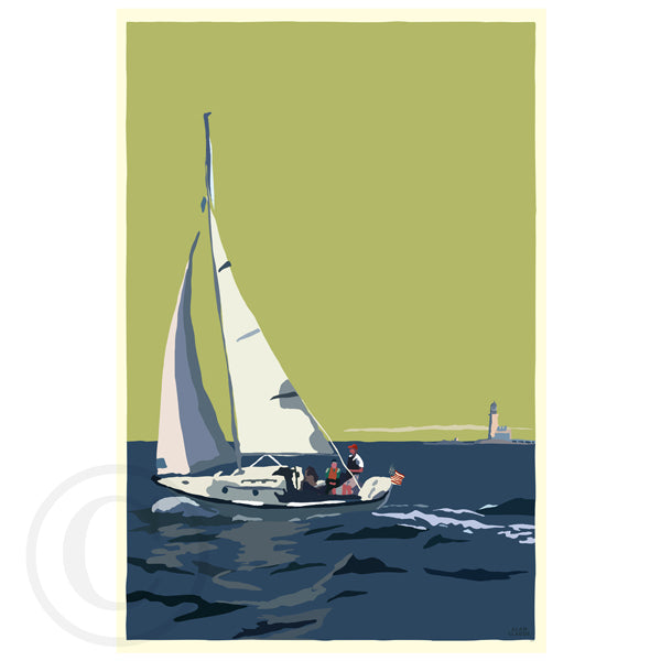 NEW! Sailing Half Way Rock Light