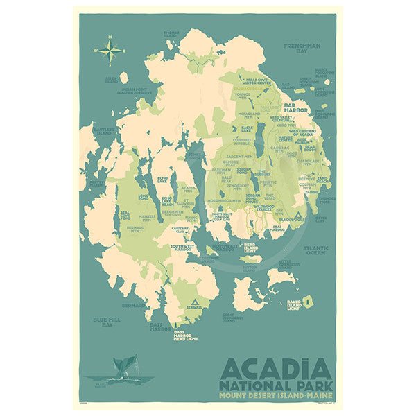 Acadia National Park Map - ME