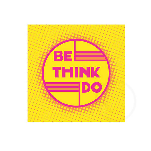 BE THINK DO - neon yellow