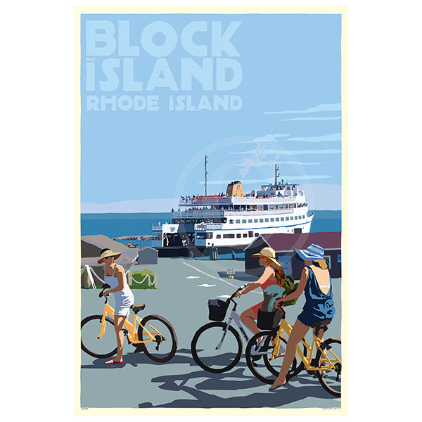 Block Island Bicycle Girls - RI