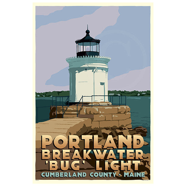 Portland Breakwater Bug Light - ME