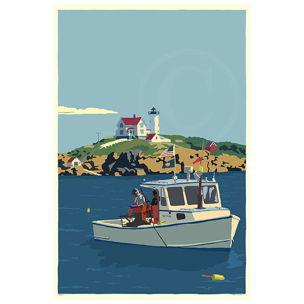 Lobstering at the Nubble - ME