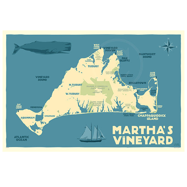 Martha's Vineyard Map - MA