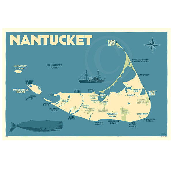 Nantucket Map - MA