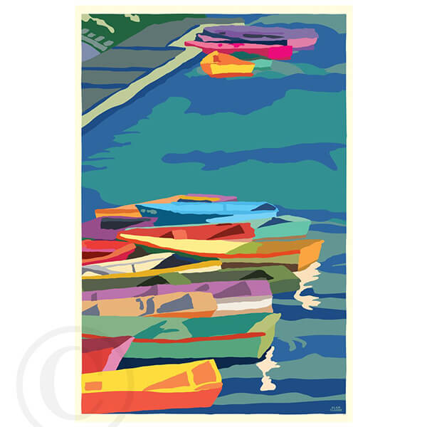 Perkins Cove Dinghies - Vertical
