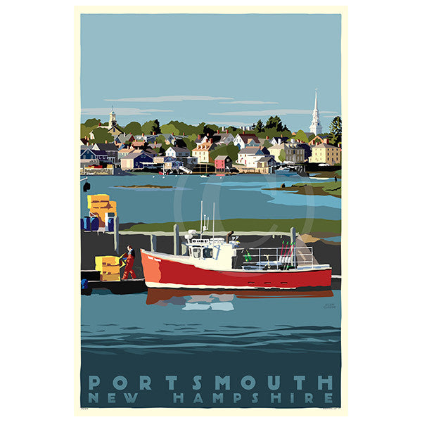 Portsmouth Lobster Boat - NH