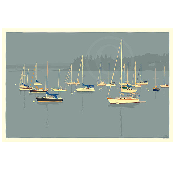Sailboats In Rockland Harbor