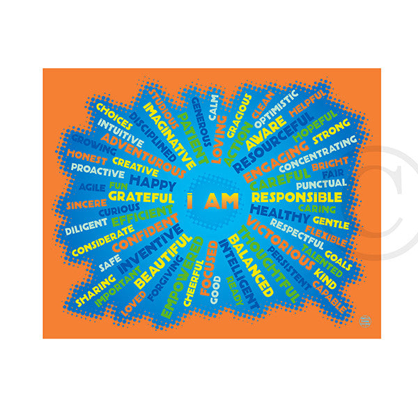 I AM - Youth Mindfulness - neon orange