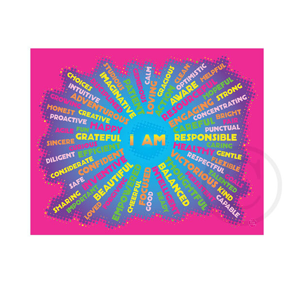 I AM - Youth Mindfulness - neon pink