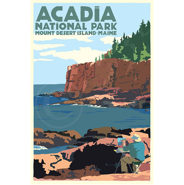 NEW - Painting in Acadia National Park