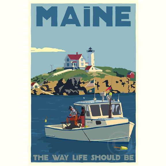 Lobstering At The Nubble Maine Bicentennial Edition