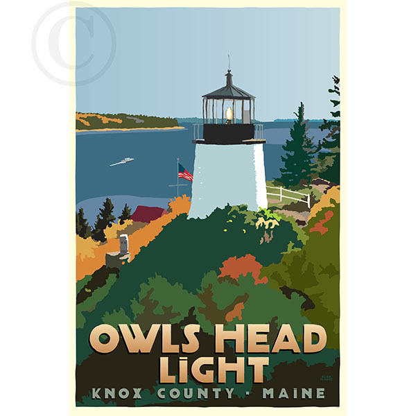 Above Owls Head Light - ME