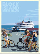 Block Island Bicycle Girls