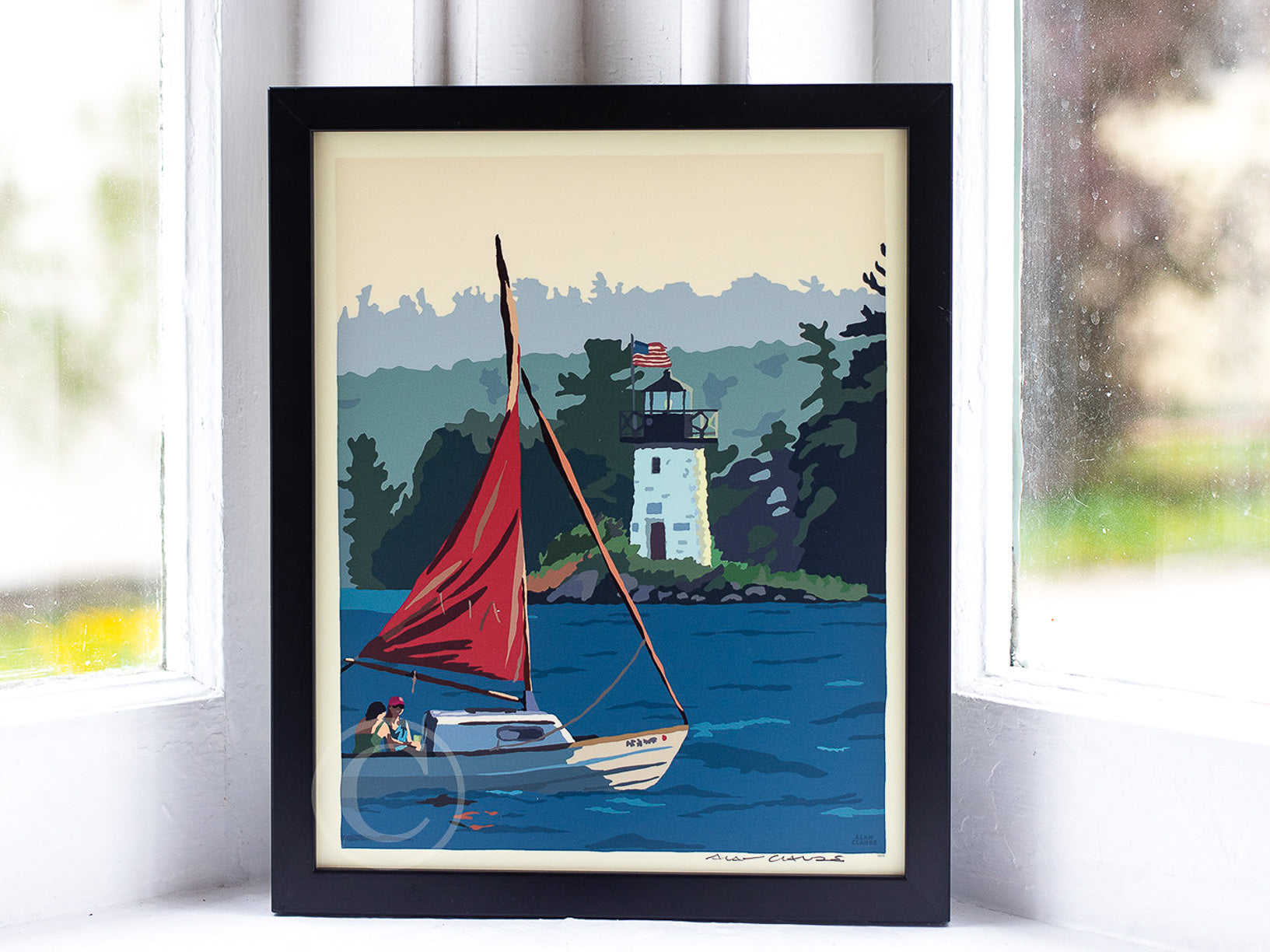 "Sailing Ladies Delight Art Print 8"" x 10"" Framed Wall Poster"