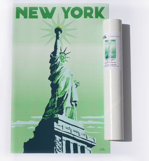"Statue Of Liberty Art Print 11"" x 17"" Travel Poster - New York"