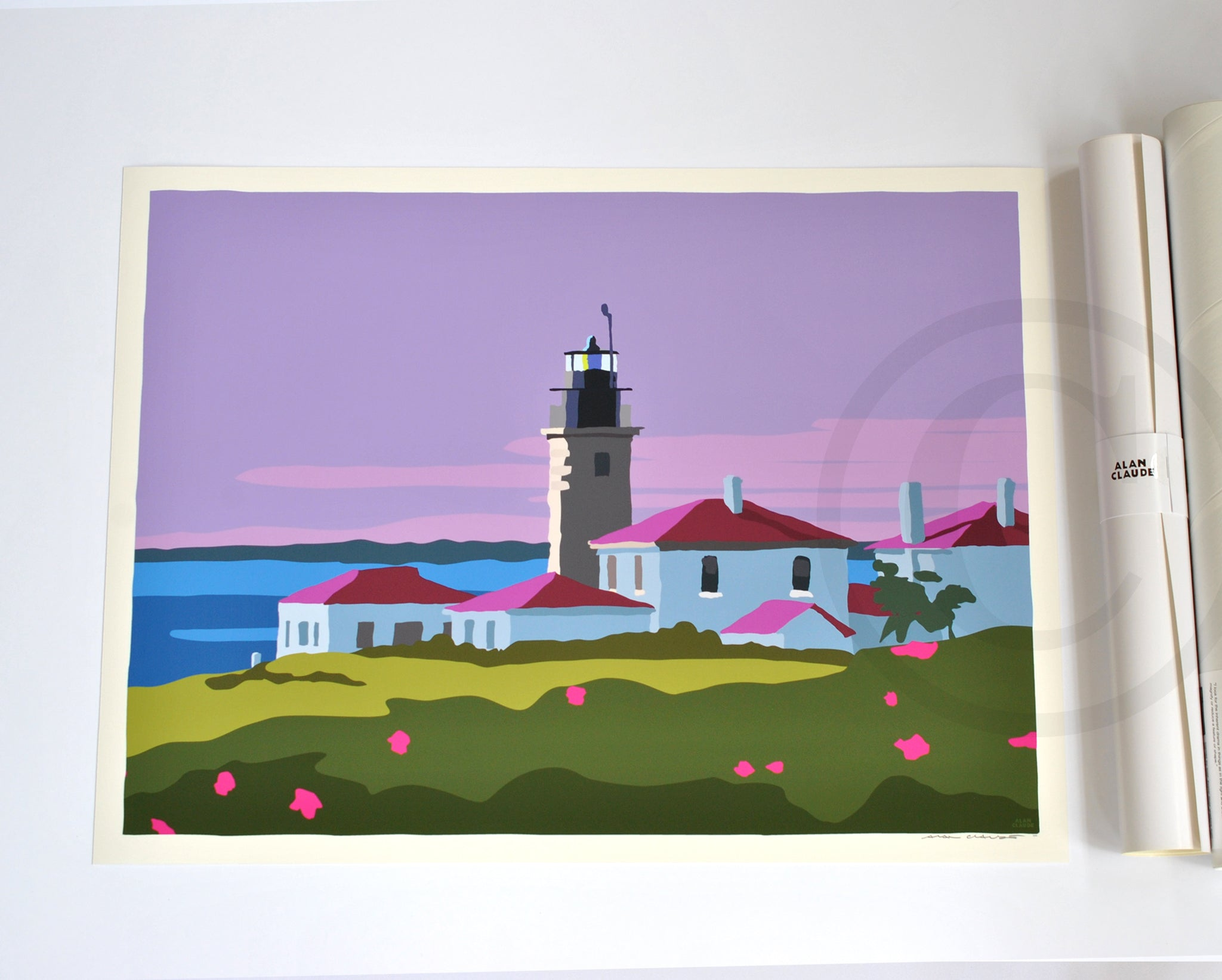 "Sunrise At Beavertail Light Art Print 18"" x 24"" Wall Poster - Rhode Island"