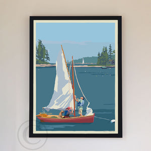"Hoist The Sail Art Print 18"" x 24"" Framed Wall Poster By Alan Claude"