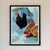 "Winter Chickens Art Print 18"" x 24"" Framed Wall Poster By Alan Claude"