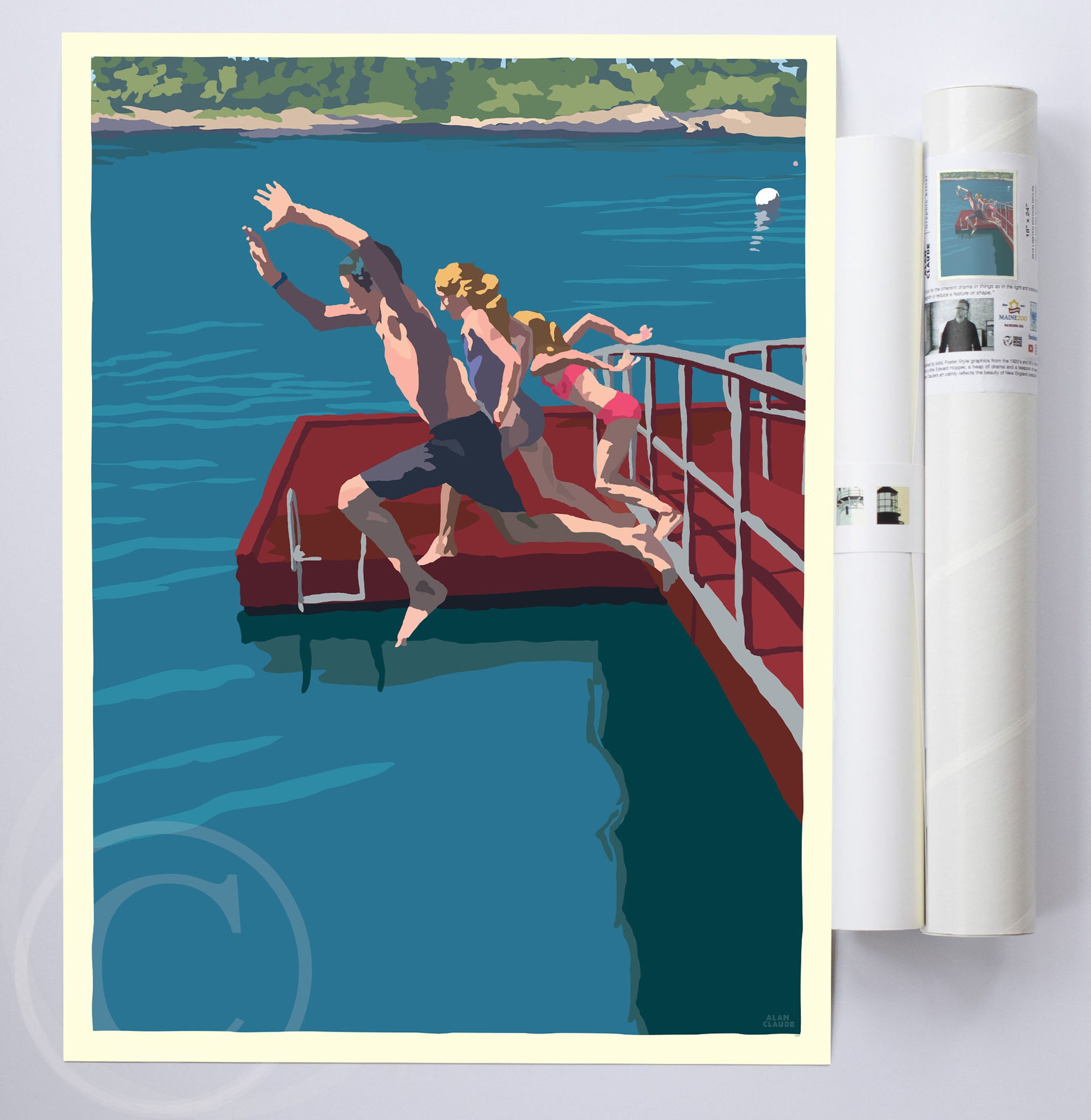 "Go Jump In A Lake Art Print 18"" x 24"" Wall Poster By Alan Claude"