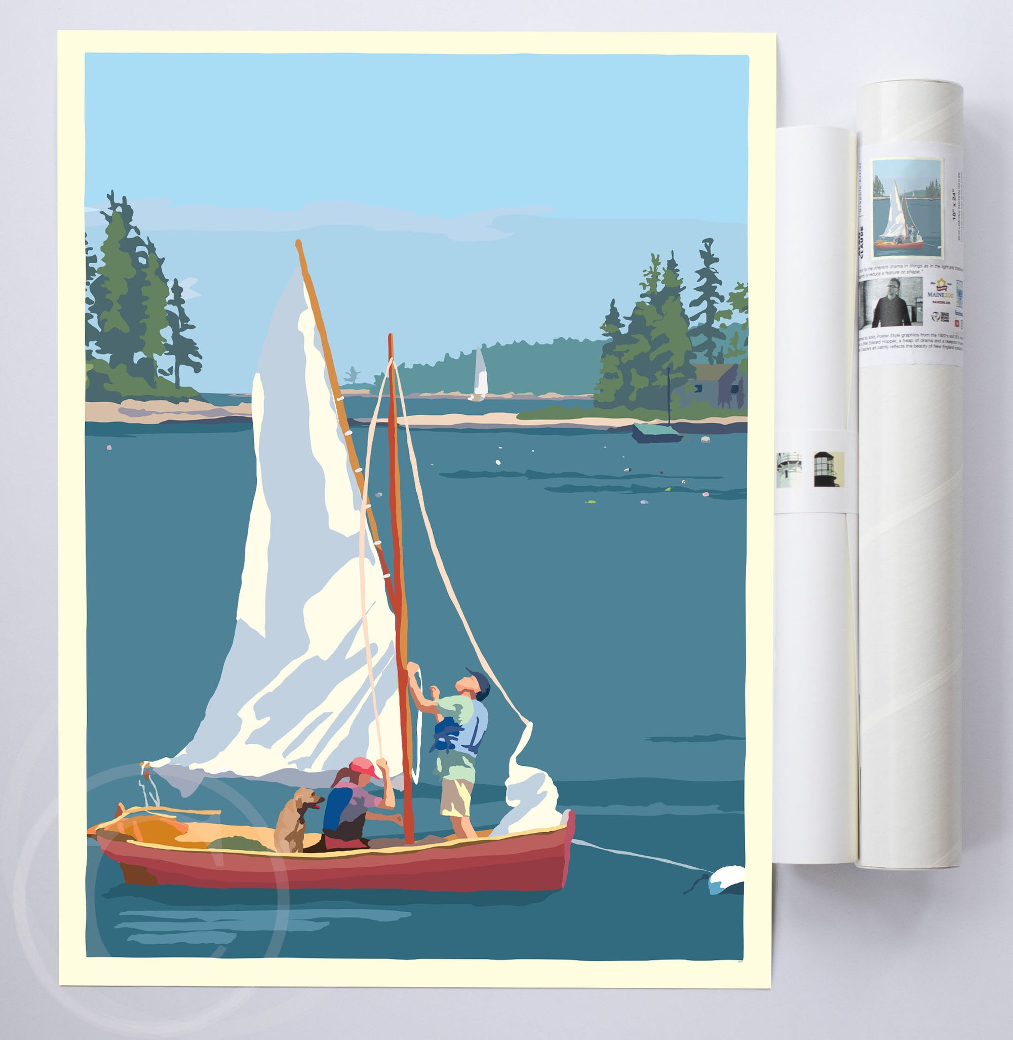 "Hoist The Sail Art Print 18"" x 24"" Wall Poster By Alan Claude"