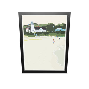 "Chatham Lighthouse Kids Art Print 18"" x 24"" Framed Wall Poster - Massachusetts"
