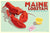 "Maine Lobstah With Butter Art Print (Horizontal) 24"" x 36"" Wall Poster By Alan Claude"
