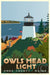 "Above Owls Head Light Art Print 24"" x 36"" Travel Poster - Maine by Alan Claude"