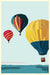 "Balloons Over Islands Art Print 24"" x 36"" Wall Poster - Maine by Alan Claude"
