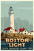 "Boston Light Art Print 24"" x 36"" Travel Poster - Massachusetts"