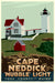 "Cape Neddick Nubble Light Art Print 24"" x 36"" Travel Poster - Maine"