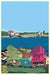 "Chairs Overlooking Ram Island Art Print 24"" x 36"" Wall Poster - Maine by Alan Claude"