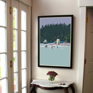 "Ladies Delight Art Print 24"" x 36"" Framed Wall Poster - Maine"