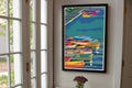 "Perkins Cove Dinghies Art Print 24"" x 36"" Framed Wall Poster - Maine"