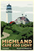 "Highland Light Art Print 36"" x 53"" Travel Poster - Massachusetts"