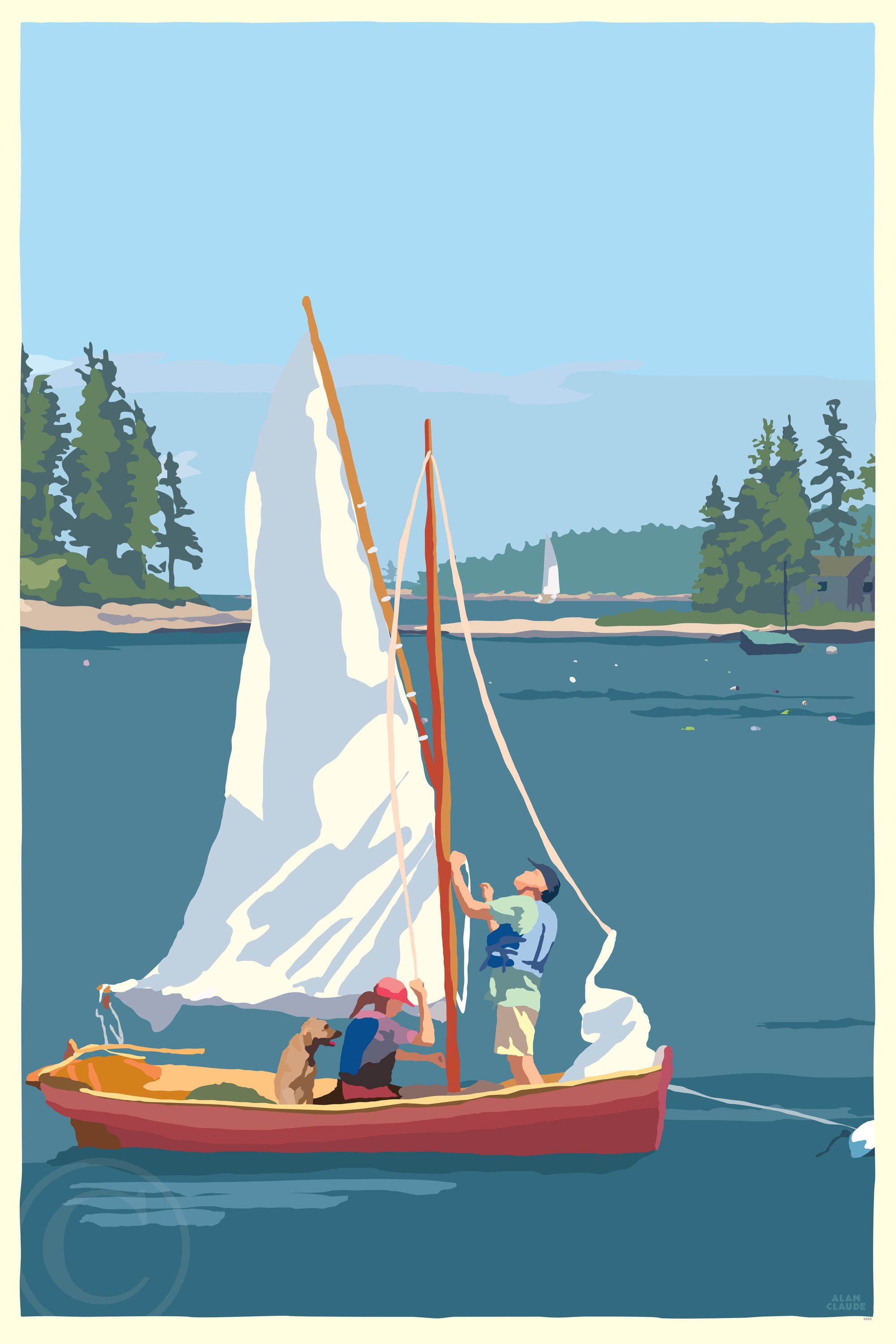 "Hoist The Sail Art Print 24"" x 36"" Wall Poster By Alan Claude"