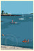 "Ocean Point Swimmers Art Print 36"" x 53"" Wall Poster - Maine by Alan Claude"