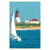 "Point Judith Light Art Print 36"" x 53"" Travel Poster - Rhode Island"