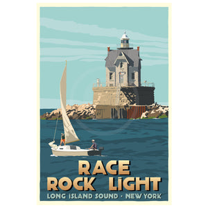 "Race Rock Light Art Print 36"" x 53"" Travel Poster - New York"