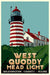 "West Quoddy Head Light Art Print 36"" x 53"" Travel Poster - Maine"