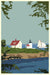 "Camden Lighthouse Art Print 24"" x 36"" Wall Poster - Maine By Alan Claude"